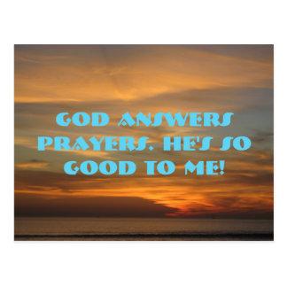Dios contesta a rezos postal