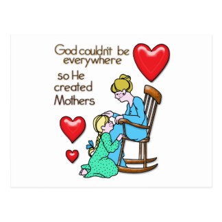 Dios creó a madres postal