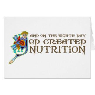 Dios creó la nutrición tarjeta de felicitación