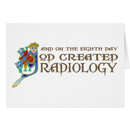 Dios creó la radiología felicitaciones