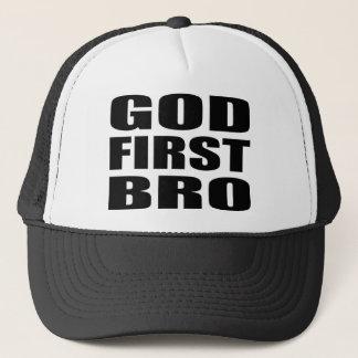 DIOS cristiano PRIMER BRO de la ropa Gorra De Camionero