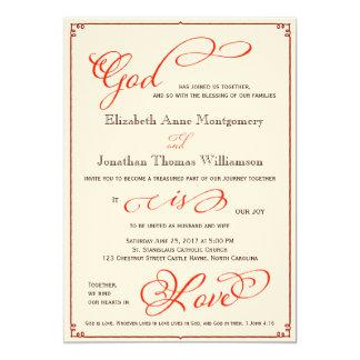 Dios de la caída es invitación cristiana del boda