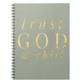 Dios de la confianza y cuaderno de la religión de