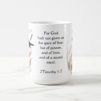 Dios de la escritura de la biblia del 65:5 del taza de café