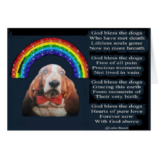 Dios de la tarjeta bendice el poema de los perros