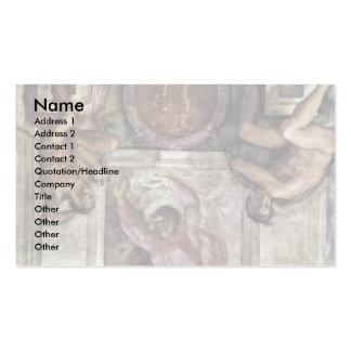 Dios del creador, y cuatro juventudes de Miguel Án Plantilla De Tarjeta De Visita