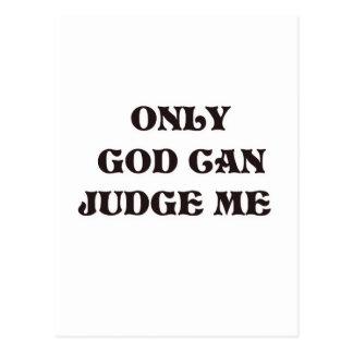 """Dios del cristiano """"solamente puede juzgarme"""" dise postal"""