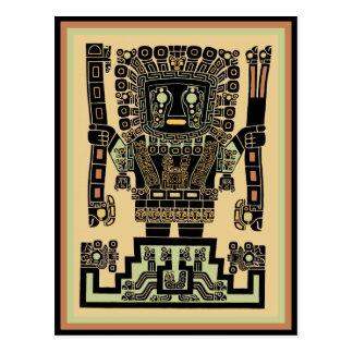 Dios del guerrero del inca postal