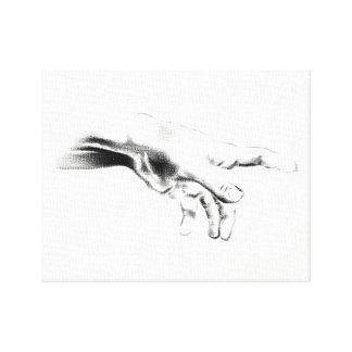 Dios del od de la mano impresión en lienzo
