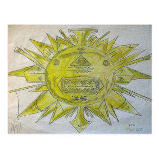 Dios del sol postal