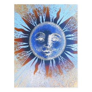 Dios del sol Sun hace frente a los regalos Postales
