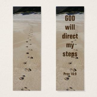 Dios dirigirá mi 16:9 de los proverbios de los tarjeta de visita pequeña