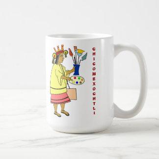 Dios el patrón de Chicomexochtli de la taza de los