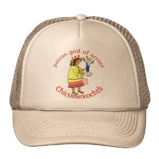 Dios el patrón de Chicomexochtli del gorra de los