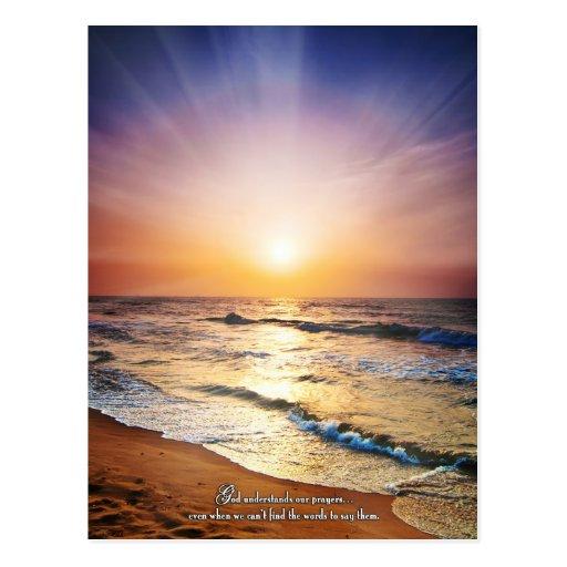 Dios entiende nuestros rezos incluso cuando… postal