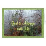 Dios es Alwayswith-personalizar cualquier ocasión Tarjetón