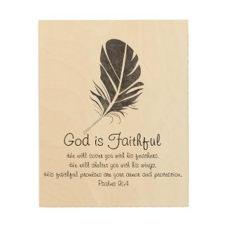 Dios es arte de madera fiel de la pared