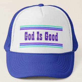 Dios es bueno gorro de camionero