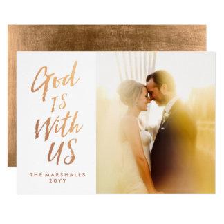 Dios es con nosotros tarjeta de Navidad religiosa Invitación 12,7 X 17,8 Cm