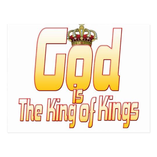 Dios es el rey de reyes postal