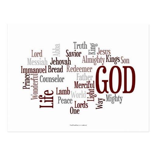 Dios es esperanza tarjeta postal