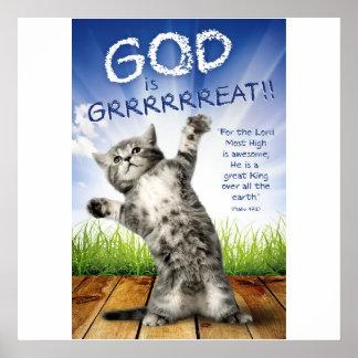 ¡DIOS ES GRRRRREAT! - Posters cristianos para los