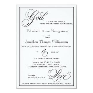 Dios es invitación cristiana del boda de la