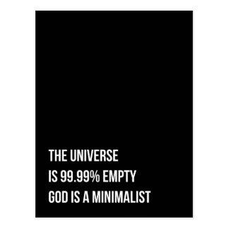 Dios es un Minimalist Postal