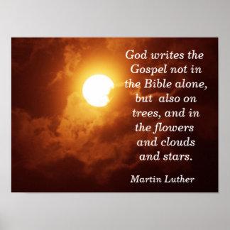 Dios escribe el evangelio - impresión del arte