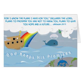 Dios guarda su tarjeta de las promesas