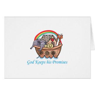 Dios guarda sus promesas tarjeta de felicitación