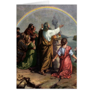 Dios hace una promesa a Noah Tarjeta De Felicitación