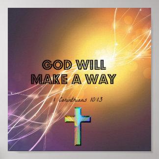 Dios hará un poster de la manera
