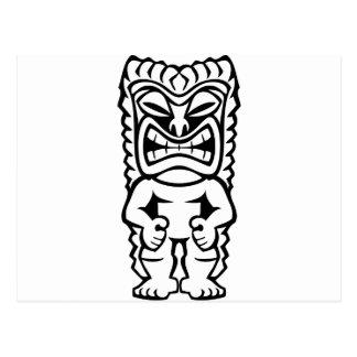 Dios hawaiano de la máscara de Tiki Postal