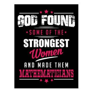 Dios hizo los matemáticos la profesión hilarante postal