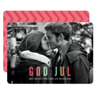 Dios julio de Foto Julkort el | Invitación 12,7 X 17,8 Cm