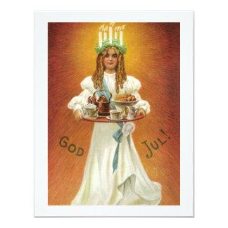 ¡Dios julio! Lucía con las invitaciones