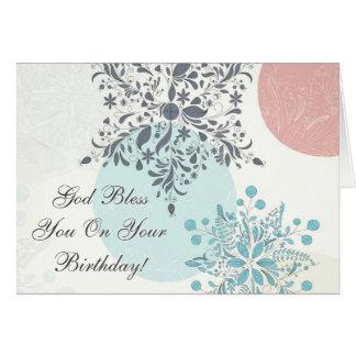Dios le bendice en su cumpleaños, biblia del 6:24 tarjeta de felicitación