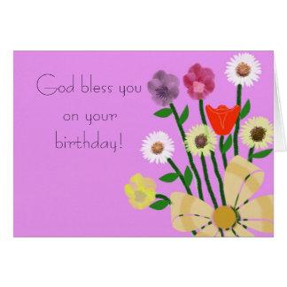 Dios le bendice en su tarjeta de cumpleaños