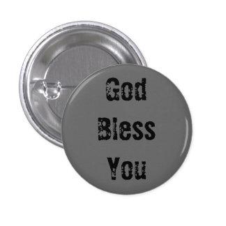 Dios le bendice - modificado para requisitos parti chapa redonda 2,5 cm