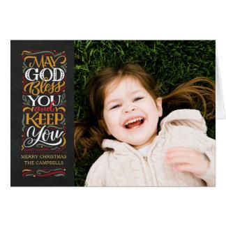 Dios le bendice tarjeta del día de fiesta