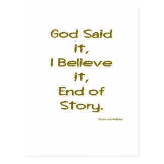 Dios lo dijo postal