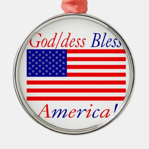 ¡Dios/los dess de Glowees bendice América! Adorno Para Reyes
