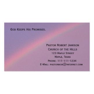 Dios mantiene sus promesas religiosas tarjetas de visita