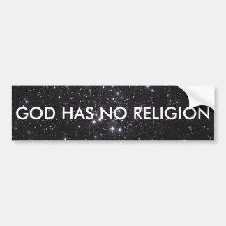 Dios no tiene ninguna religión pegatina para coche