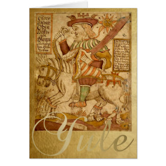 Dios Odin en su caballo Sleipnir - la tarjeta de