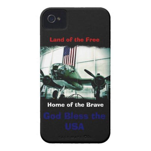 Dios patriótico bendice el caso del iPhone 4 de lo iPhone 4 Case-Mate Cobertura