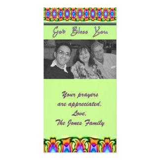 dios religioso le bendice tarjeta fotografica personalizada