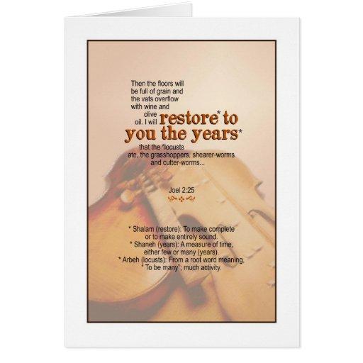 Dios restaura los años - 2:25 de Joel Felicitaciones
