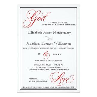 Dios rojo es invitaciones cristianas del boda del invitación 12,7 x 17,8 cm